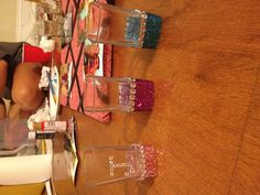 Getting crafty again! Super cute and a very easy way to decorate shot glasses!
