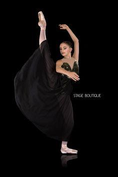 LYRICAL DRESS - HAMLET, $79, Olive and Black Slow Modern Dance Costume, Stage Boutique, www.stageboutique.com