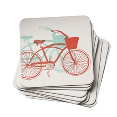 Bike Letterpress Coasters