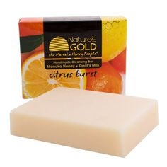 ur handmade 130g soap is made from fresh goat's milk, which gently removes old oil from the skin and adds pure proteins. It contains active Manuka honey to soothe and repair, as well as olive oil to moisturise.  Our soap is packed with essential oils specifically selected for their antiseptic, anti-inflammatory, cleansing and purifying properties. A splash of lime has been added to freshen and tighten the skin.