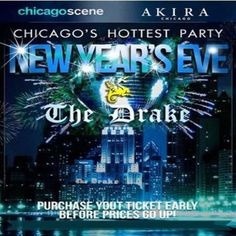 Drake Hotel New Years Eve 2015 at Drake Hotel, 140 E. Walton Place, Chicago Illinois, 60611, US on Dec 31,2014 to Jan 01,2015 at 9:00 pm to 4:00 am.  Wednesday, December 31, 2014Party Hours: GA 9PM to 2AM - Vip 8PM to 2AMRing in 2015 with Chicago Scene at the Hottest New Year's Eve Party in Chicago Chicago-Scene 15th Annual New Years Eve Party at The Drake Hotel.   URL: Booking: http://atnd.it/18713-1  Category: Nightlife  Price: See Website