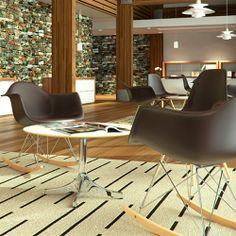 Silla Eames Plastic, esta silla se diseño para el concurso Low-Cost furniture Design del Museo de Arte Moderno de Nueva York en 1950, fue la primera silla de fabricación industrial realizada en plástico. Diseñadores de los clasicos del diseño: Charles & Ray Eames