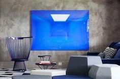 #concrete #blue #grey #suitearquitetos