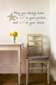 Wall Words Art Wall Stickers Vinyl Lettering - Shell and Sand.