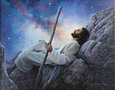 """Worlds without End"" by Greg Olsen (there's a blog about how he came to paint this picture of Jesus)"