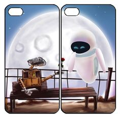 Wall-E And Eve Samsung Galaxy S3 S4 S5 Note 3 case, iPhone 4 4S 5 5s 5c case, iPod Touch 4 5 Couple Case