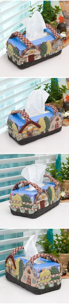 I love this idea. I would also have a cover over the top of the tissue box. Tissue Case - quiltme
