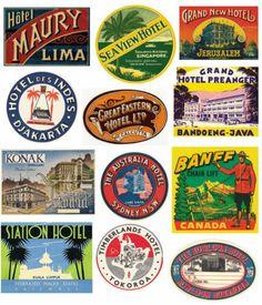 Vintage steamer trunk labels | Crafts | Pinterest | Steamer trunk ...