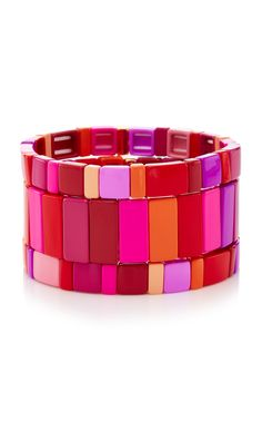 05bd3c79487 Shop Set-Of-Three Extremely Pink Bracelets. Jewelry designer Roxanne  Assoulin is adored for her candy-colored stackable bracelets.