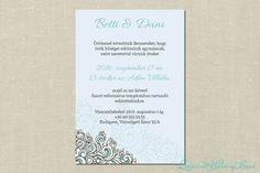Grace esküvői meghívó Lilac Wedding Invitations, Personalized Items