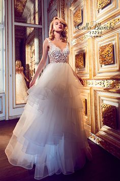 Calla Blanche - 17245 / LOMA | Top Designer Wedding Dresses - Jaehee Bridal Atelier  #ballgown #illusion #sweetheart #sleeveless #straps #bridal #weddingdress