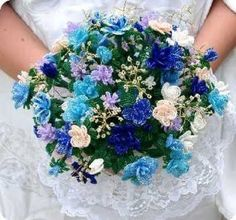French Beaded Flowers . . . this is cool, a very easy wedding bouquet to preserve.
