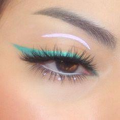Edgy Makeup, Makeup Eye Looks, Eye Makeup Art, Cute Makeup, Pretty Makeup, Skin Makeup, Eyeshadow Makeup, Makeup Inspo, Gorgeous Makeup