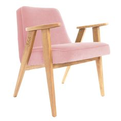 366 easychair in Pink Powder colour - VELVET collection.