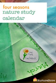 seasonal nature study calendar :: easy homemade calendar for kids, great for learning about the seasons, nature study unit, combining art and science