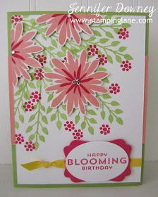 Stamping Lane: Blooming Birthday Flower Patch stamp set card