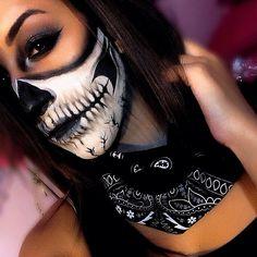 Halloween makeup Halloween make-up Adult Halloween, Halloween Horror, Halloween Make Up, Halloween Face Makeup, Skull Makeup, Makeup Art, Sfx Makeup, Makeup Ideas, Up Costumes