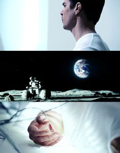 The talented Sam Rockwell in the amazing movie, Moon.