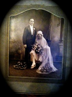Beautiful1920s Studio Photograph of Bride and by ScarlettsFancies, $24.00