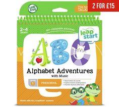 Buy LeapFrog LeapStart Alphabet Adventures Activity Book at Argos.co.uk, visit Argos.co.uk to shop online for Electronic learning toys, Electronic toys, Toys