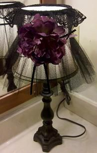 inspiration - tulle shade :: Great! (I just saw 3 wire lampshade frames, but far too expensive, I thot!)