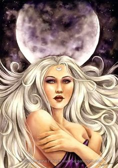 Pandeia (Pandia) - a goddess of the full moon and of the earth - nourishing dew; a daughter of Zeus (Sky) and Selene (Moon)