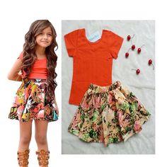 Chegam novas crianças T-shirt + saia para o vestido da menina de flor das crianças terno do bebê roupas das meninas