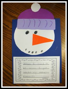 Today In First Grade: Snowman Day!