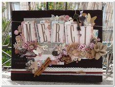 unjolimoment.com - urne valise vintage shabby chic fleurie MERCI - mariage