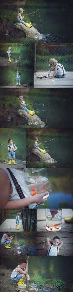 Raquel Morillo. Photo session kids fishing