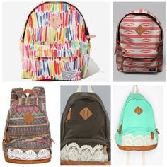 floral backpacks for teenage girls.Canvas bag student school bag ...