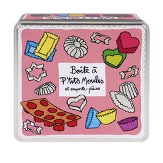 Boîte à ptits moules - Rose - Derrière la Porte - DLP - Accessoire cuisine et rangement/Boîte métal et céramique - espritlogis-fr