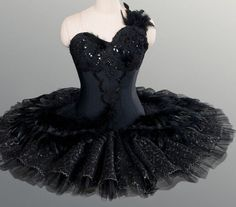 Professional Black Swan Lake Ballet Tutu Feathered Costume Custom MTO $700 YAGP…