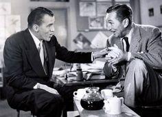 """Walt and Ed Sullivan ~ Ed Sullivan's show """"Toast of the Town"""""""