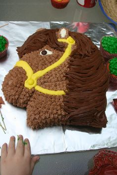 The horse cake made by Mommy and her friend for the birthday boy