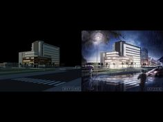 [Night Scene] Photoshop architecture rendering tutorial : Day to night - YouTube