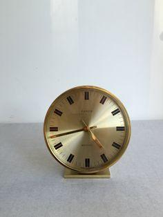 Kienzle Tischuhr,  West German Design, Vintage Uhr Messing, Kienzle electronic…