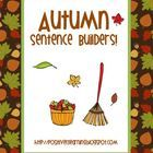 Here's an fall-themed sentence writing packet perfect for back-to-school season and all year round!