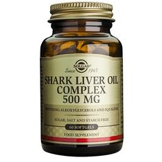 Aceite de Hígado de Tiburón Cómplex 500 mg 60 Cápsulas Blandas – Herbolario Oriente