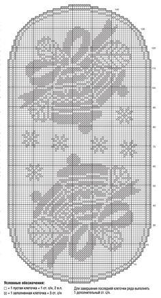 Большая салфетка с колокольчиками - схема вязания крючком. Вяжем Салфетки на Verena.ru