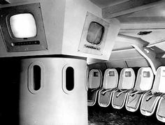 The rocket flight to Mars was in a space theater with TV screens showing the flight's progress. - 1958