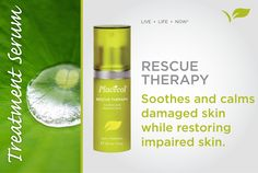 Placecol's Rescue Therapy soothes and calms damaged skin while restoring impaired skin. Fresh Products, Live Life, Serum, Restoration, Skincare, Therapy, Calm, Personal Care, Self Care