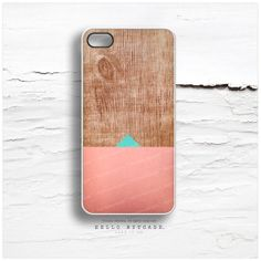 iPhone 5 Case Wood Print, iPhone 5s Case Geometric, iPhone 4 Case, iPhone 4s Case, Coral iPhone Case, Teal Chevron iPhone Cover C8