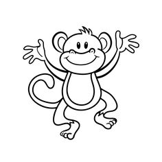 Monkey Coloring Pages for Kids. Free monkey coloring pages for kids. These printable coloring sheet surely will make your children happy. Adult Coloring Pages, Monkey Coloring Pages, Pumpkin Coloring Pages, Toddler Coloring Book, Animal Coloring Pages, Coloring Pages To Print, Colouring Pages, Coloring Pages For Kids, Coloring Books