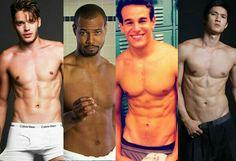 Sexy boys!! Dom Sherwood, Isaiah Mustafa, Alberto Rosendes and Harry Shum Jr, also known as Jace, Luke, Simon and Magnus, hot damn!! so fine xx