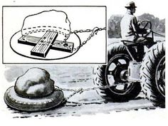 Tire Sled to move heavy stones.  (This site has a lot of really old - but still pertinent - tips.)