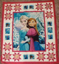 Frozen Quilt, Frozen Sisters, Decorative Quilt, Gift Quilt, Children, Girls Quilt, Fast Shipping https://www.etsy.com/shop/suescreatingcottage