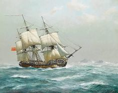 Nautical Artwork, Ship Paintings, The Masterpiece, Tall Ships, Model Ships, Golden Age, Wonders Of The World, Sailing Ships, Painted Canvas