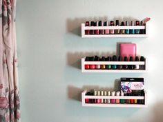 Nail varnish shelf