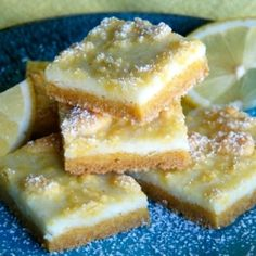 Lemon Cream Cheese Bars by jessfuel